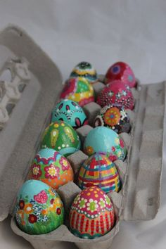 Whimsical Hand Painted Easter Eggs