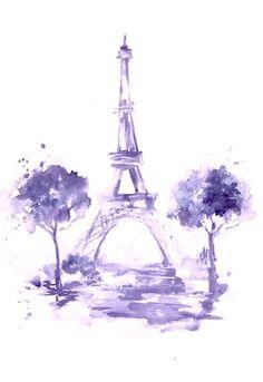Paris Fashion Original Watercolor Illustration by LanasArt