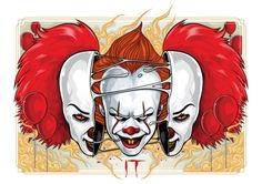 Every day is Halloween: Photo Horror Movie Characters, Best Horror Movies, Scary Movies, Pennywise The Dancing Clown, Horror Monsters, Creepy Clown, Evil Clowns, Arte Horror, Cultura Pop