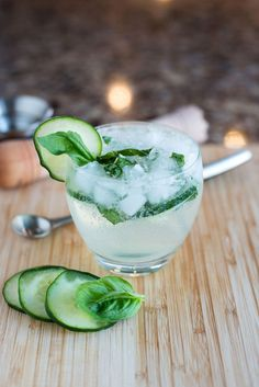 The GBC (Gin, Basil & Cucumber) 3 cucumber slices 3 basil leaves ½ tbsp sugar (or ½ tbsp of simple syrup) 1 ounce gin lime juice (to taste) ½ cup crushed ice ½ cup tonic water