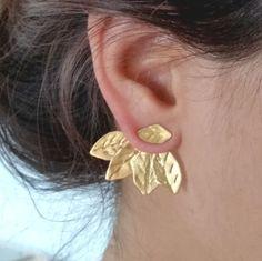 Oreille vestes Gold, oreille vestes, vestes deux dans une oreille, oreille grimpeurs, alpinistes d