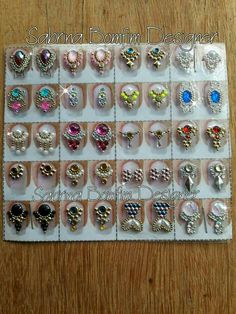 Bling Acrylic Nails, Bling Nails, Gem Nails, Nail Gems, Step By Step Painting, Nail Technician, Press On Nails, E Design, Hand Embroidery