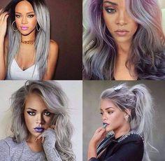 Rihanna with grey hair