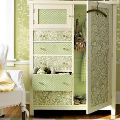 25 Creative Ideas for Storage Furniture Decoration with Modern Wallpaper