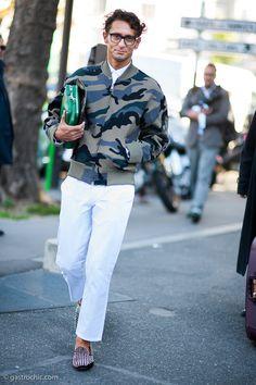 Simone Marchetti at Kenzo #streetstyle #fashion | Gastro Chic
