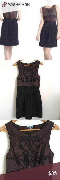 Corduroy dress anthropologie black