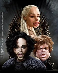 Game of Thrones - caricatura By: José Serrudo