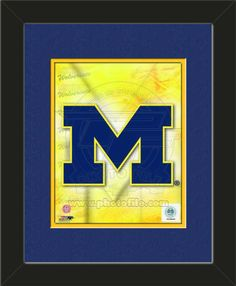One framed 8 x 10 inch University of Michigan photo of University Of Michigan Team Logo, double matted in team colors to 11 x 14 inches.  $39.99 @ ArtandMore.com