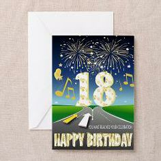 18th Birthday Sat-Nav Card. You Have Reached Your Celebration Greeting Card> Cards> Allykats Gifts