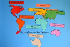 World Map Geography Activities For Kids + Free Printable -