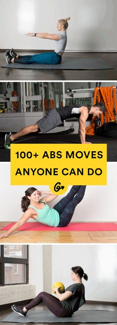These genius moves will build strength and keep your routine fresh. #abs #core #workout http://greatist.com/move/ab-workout-collection