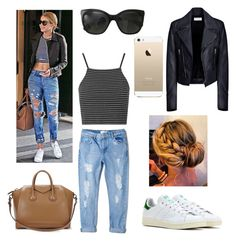 """""""Sans titre #102"""" by prettylittleflowers ❤ liked on Polyvore featuring mode, Topshop, Givenchy, adidas, MANGO, Balenciaga, Chanel en FingerPrint Jewellry"""