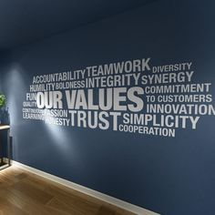 Our Values, Core Values, Office, Motivational, Office, Wall Art, Wall Decal, Office Decor, Office Walls, Wall Decor - SKU:OUVA