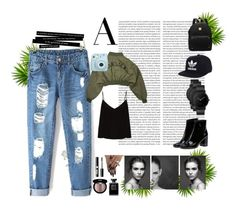 """BASIC HEAVEN"" by wintertina ❤ liked on Polyvore featuring Oris, Yves Saint Laurent, adidas, South Lane, Fujifilm, Raey, Edward Bess, Charlotte Russe and Chanel"
