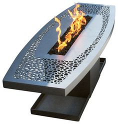 Coffee Table Fire Pit - contemporary - Firepits - Home Infatuation Gas Fire Pit Table, Metal Fire Pit, Fire Pit Furniture, Steel Furniture, Fire Pit Gallery, Fire Pit Essentials, Fire Pit Materials, Fire Pit Ring, Fire Pit Designs