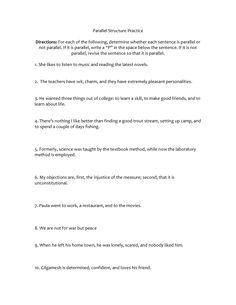 Parallel Structure - NoRedInk (Teacher) | High School English ...