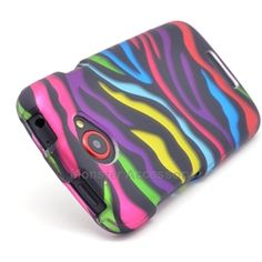 Click Image to Browse: $5.95 Funky Zebra Hard Case Cover for HTC One S