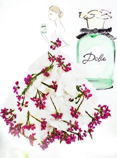 Grace Ciao Lends Her Floral Magic to Dolce & Gabbana Grace Ciao, Flower Petals, Flower Art, Cute Little Things, Flower Fashion, Fashion Art, Real Flowers, Flower Dresses, Christmas Bulbs