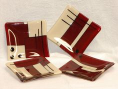 Love these Fused Glass Dessert Plates  307 by MAIStuffStudio on Etsy, $70.00