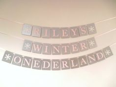 Perfect for ONEDERLAND events! You will love this silver, blush pink and white personalized birthday banner. Banner is made on silver metallic premium chipboard. Banner will not tear, bend or crease as with a paper banner. These banners are meant to last and can be used again and again.