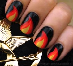 11 Hunger Games Nail Designs to Wear to the Catching Fire Opening