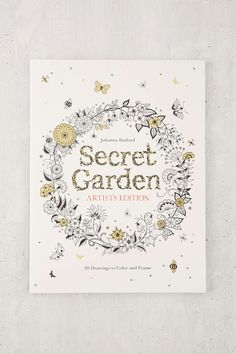 Secret Garden Artists Addition 20 Drawings To Color And Frame By Johanna Basford