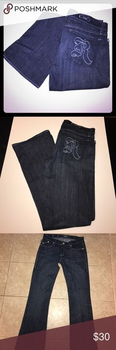 Rock & Republic Jeans Like new condition, size 28, inseam hemmed to 30, Boot cut Rock & Republic Jeans Boot Cut