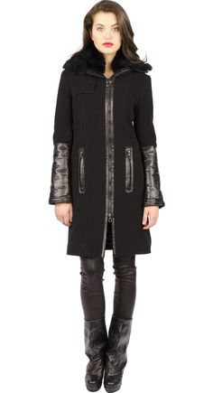 I think with this coat from www.rudsak.com, I might be able to keep walking in cold and rainy Montreal