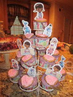 Doc Mcstuffins party ideas | Doc McStuffins Party, cupcake ideas and toppers, games,