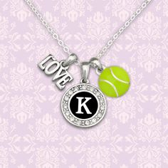 Custom Initial 3 Charm Tennis Necklace