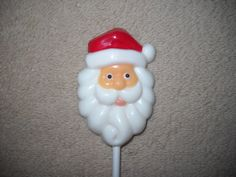 1 Chocolate Christmas santa head with swirling beard favors Lollipops Lollipop #castlerockchocolatessapphirechocolates