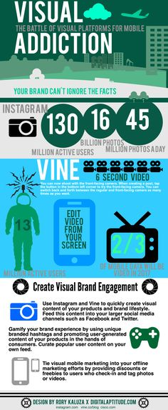 Instagram And Vine: How You Can Use Visual Platforms For Your Marketing - Infographic - The Main Street Analyst