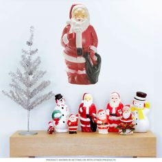Santa Claus is coming . . . to your wall! Our festive Santa Claus with Bag Wall Decal adds the perfect retro touch to your Christmas wall decorations. One of our line of peel and stick decals with classic retro Santas, this removable wall graphic applies easily and lets you decorate for the holidays quickly and easily.