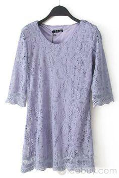 Fantastic Chic Sorted Colors Lace Dress : Tidebuy.com