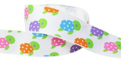 HipGirl Animal Cutie Grosgrain Ribbon for Baby Showers, Hair Bows, Floral Designs, Gift Wrapping... (5yd 7/8' Turtle)--K142 * Find out more about the great item at the image link.