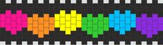 Rainbow Hearts Kandi Pattern