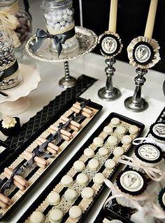 Black & White dessert table
