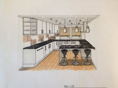 One Point Perspective Living Room Sketch - Wallpaperall Interior Architecture Drawing, Interior Design Renderings, Drawing Interior, Interior Rendering, Interior Sketch, Best Interior Design, Architecture Design, Interior Logo, Classic Interior