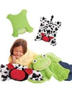 Cuddle Blankets Cow and Frog Pattern to sew