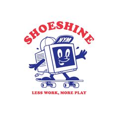 Shoeshine x NYM on Behance jollibee logo - Brand Logos Tee Design, Design Art, Logo Design, Badge Design, Graphic Design Posters, Graphic Design Inspiration, Character Illustration, Graphic Illustration, Arte Peculiar
