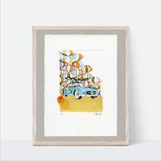 Looking for original art to create a stunning gallery wall for your kids room or nursery? Then our printmaking art is just for you. We created different original art prints that mix and match perfectly. Play with frames and matboards to create your unique style. Click through to see all our handmade artwork.  #gullwingart #mercedesbenz300slsfineart #boynurserycars #vintagecarart #drypointetching Kids Room Wall Art, Room Wall Decor, Nursery Wall Art, Nursery Ideas, White Nursery, Boho Nursery, Boy Nursery Cars, Scandinavian Kids Rooms, Kids Room Design