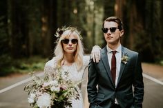 Shades + wedding finest = nailed it! | Image by Catherine Coons Photography