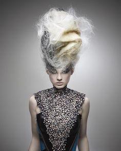 Avant garde hair by Kris Sorbie. - Fashion - Photography - Hair - Avant Garde - Warrior