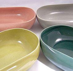 russel wright vegetable bowls american modern dinnerware - Modern Dinnerware