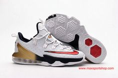 028978dd1f169 2016 Olympic Nike LeBron 13 Low White Red Golden Mens Basketball Shoes Nike  Lebron