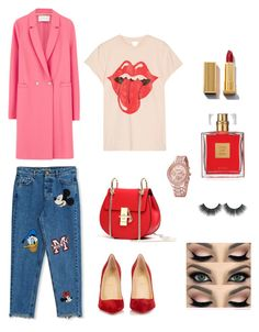 """Red, I love you"" by fatima-263 ❤ liked on Polyvore featuring Harris Wharf London, MadeWorn, Christian Louboutin, Pull&Bear and Avon"