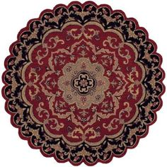 LR Resources Traditional Shape Red and Black 7 ft. 9 in. Star Plush Indoor Area Rug-LR10572-REBK8ST - The Home Depot