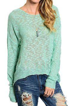 EKKLESIA Distressed Sweater