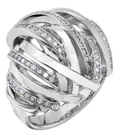 of diamonds in a stunning twist of white gold bands Gold Diamond Rings, Gold Bands, White Gold Diamonds, Rings For Men, Wedding Rings, Engagement Rings, Jewelry, Enagement Rings, Men Rings
