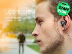 OpenEars by Binauric SE - Kickstarter. First Bluetooth In-Ear Headphones to record your video with 3D audio to share & stream, GoPro connection, great sound, HearThrough mode